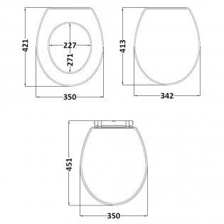 Premier York Soft Close Toilet Seat - White Ash