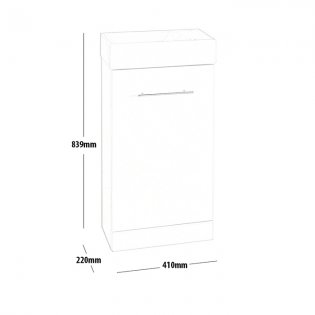 Prestige Evolve Cube Cloakroom Bathroom Vanity Unit & Basin 400mm W White 1 Tap Hole