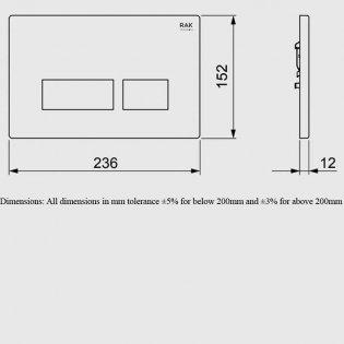 RAK Ecofix Rectangular Dual Flush Plates - White