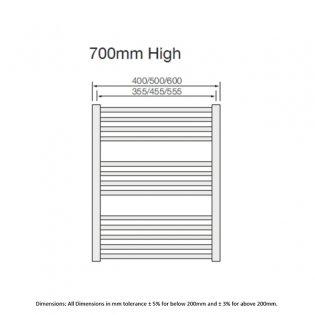 RAK Metropolitan Curved Ladder Towel Rail 700mm H x 500mm W - Chrome