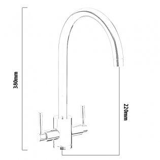 Rangemaster Aquatrend Mono Kitchen Sink Mixer Tap, Chrome