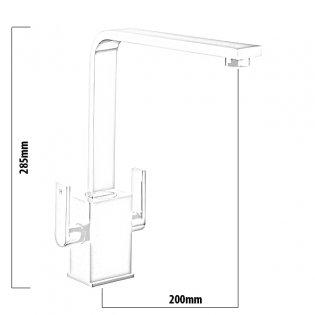 Rangemaster Quadrant Contemporary Mono Kitchen Sink Mixer Tap, Chrome