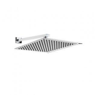 Sagittarius Almeda Slim Fixed Shower Head and Arm, 300mm x 300mm, Chrome