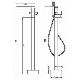 Sagittarius Nice Bath Shower Mixer Tap Floor Standing - Chrome