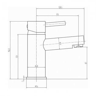Sagittarius Piazza Mono Basin Mixer Tap with Sprung Waste Single Handle - Chrome