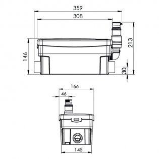 Saniflo Sanishower Macerator Pump (for Shower and Wash Basin)