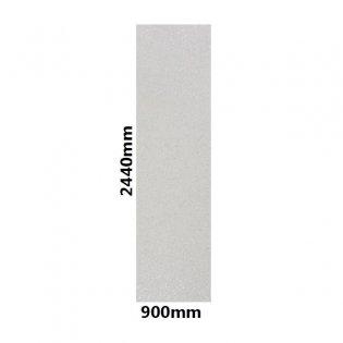 Showerwall Straight Edge Waterproof Shower Panel 900mm Wide x 2440mm High - Bianco Stardust Gloss