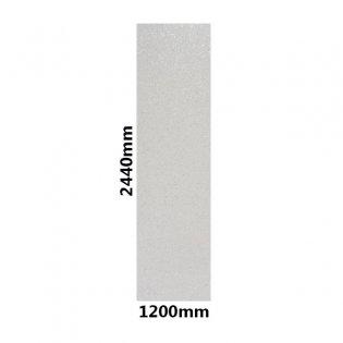 Showerwall Straight Edge Waterproof Shower Panel 1200mm Wide x 2440mm High - Bianco Stardust Gloss