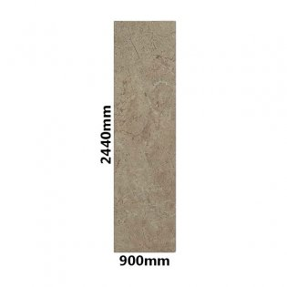 Showerwall Straight Edge Waterproof Shower Panel 900mm Wide x 2440mm High - Cappuccino Marble