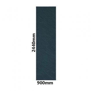 Showerwall Straight Edge Waterproof Shower Panel 900mm Wide x 2440mm High - Slate Grey