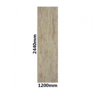 Showerwall Straight Edge Waterproof Shower Panel 1200mm Wide x 2440mm High - Travertine Gloss