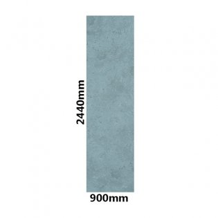 Showerwall Straight Edge Waterproof Shower Panel 900mm Wide x 2440mm High - Pearl Grey
