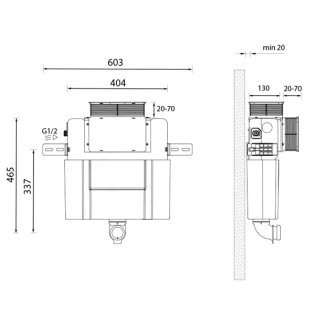 Signature Easi-Plan Cistern with Dual Flush 820mm