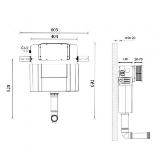 Signature Easi-Plan Cistern with Dual Flush 980mm