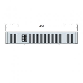 Smiths Space Saver SS80E W White Grille 600mm