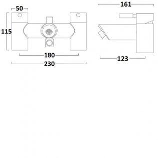 Tavistock Kinetic Bath Shower Mixer Tap Deck Mounted - Chrome