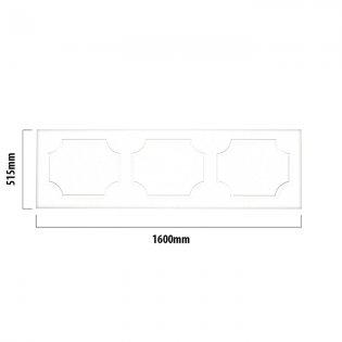 Tavistock Milton MDF Front Bath Panel 515mm H x 1600mm W - White