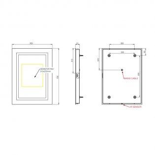 Tavistock Reform LED Backlit Illuminated Mirror 500mm W x 700mm H