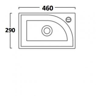 Tavistock Sequence Cloakroom Basin, 450mm Wide, 1 Tap Hole