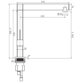 The 1810 Company 1810XXX Single Lever Kitchen Sink Mixer Tap - Chrome