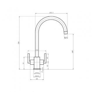 The 1810 Company Ruscello Square Body Kitchen Sink Mixer Tap - Chrome