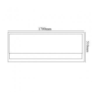 Verona Economy Acrylic Front Bath Panel 1700mm Wide - White