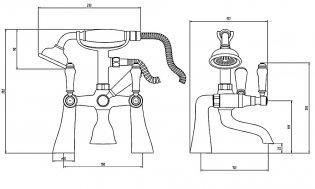 Verona Holborn Bath Shower Mixer Tap Deck Mounted - Chrome