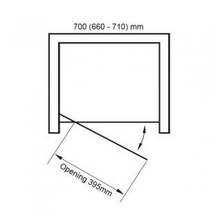 Verona Uno Pivot Shower Door 700mm Wide - 6mm Glass