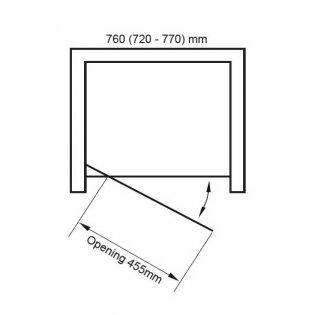 Verona Uno Pivot Shower Door 760mm Wide - 6mm Glass