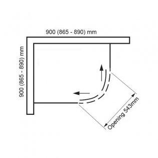 Verona Uno Quadrant Shower Enclosure 900mm x 900mm - 6mm Glass