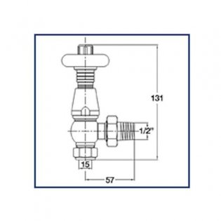 West Bentley Traditional Thermostatic Radiator Valves Pair and Lockshield Angled - Antique Copper