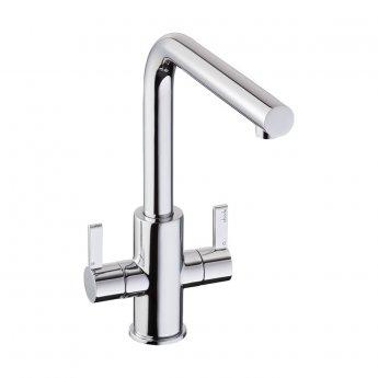 Abode Althia Monobloc Dual Lever Kitchen Sink Mixer Tap - Chrome