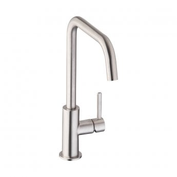 Abode Althia Single Lever Kitchen Sink Mixer Tap - Brushed Nickel