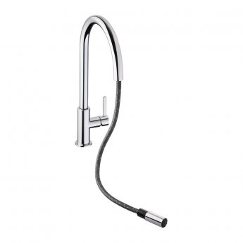 Abode Althia Side Lever Pull Out Kitchen Sink Mixer Tap - Chrome