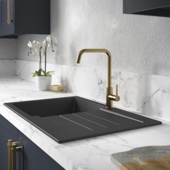 Abode Althia Single Lever Kitchen Sink Mixer Tap - Brushed Brass