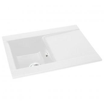 Abode Aspekt 1.0 Bowl Granite Inset Kitchen Sink 716mm L x 540mm W - White