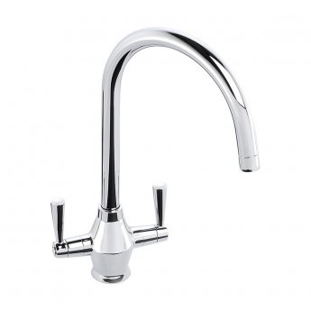 Abode Astral Monobloc Dual Lever Kitchen Sink Mixer Tap - Chrome