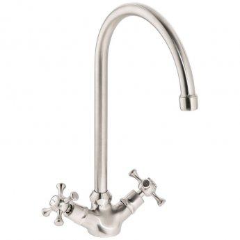 Abode Burford Monobloc Kitchen Sink Mixer Tap - Brushed Nickel
