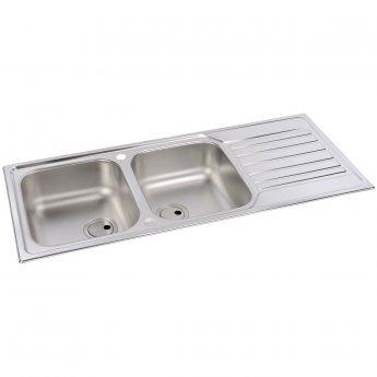 Abode Connekt 2.0 Bowl Inset Kitchen Sink 1160mm L x 500mm W - Stainless Steel