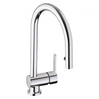 Abode Czar Side Lever Pull Out Kitchen Sink Mixer Tap - Chrome