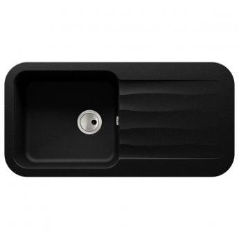 Abode Dune 1.0 Bowl Granite Kitchen Sink With Reversible Drainer 1000mm L x 500mm W - Black