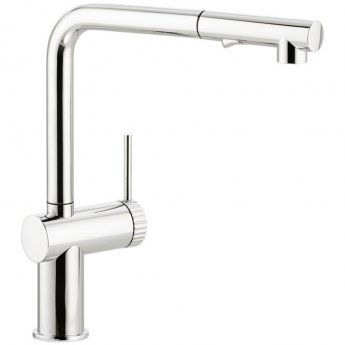 Abode Fraction Pull Out Kitchen Sink Mixer Tap - Chrome