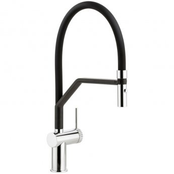 Abode Fraction Semi Professional Pull Out Kitchen Sink Mixer Tap with Spray - Chrome