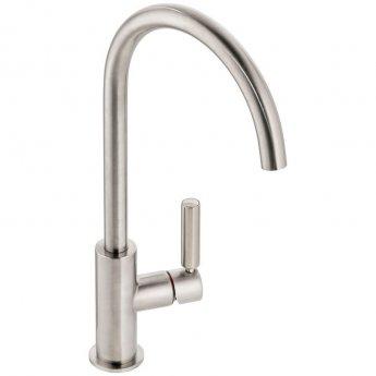 Abode Globe Kitchen Sink Mixer Tap - Brushed Nickel
