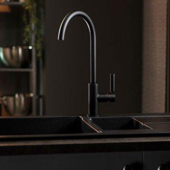 Abode Globe Kitchen Sink Mixer Tap - Matt Black