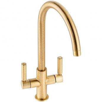Abode Globe Aquifier Kitchen Sink Mixer Tap - Brushed Brass