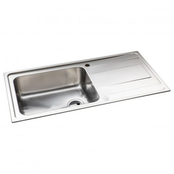 Abode Ixis 1.0 Bowl Inset Kitchen Sink 1000mm L x 500mm W - Stainless Steel