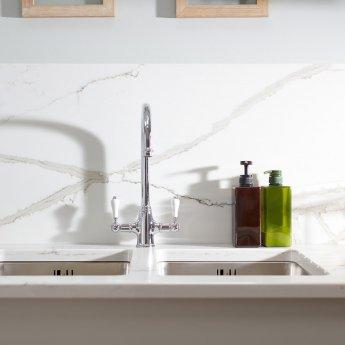 Abode Ludlow Monobloc Dual Lever Kitchen Mixer Tap - Chrome