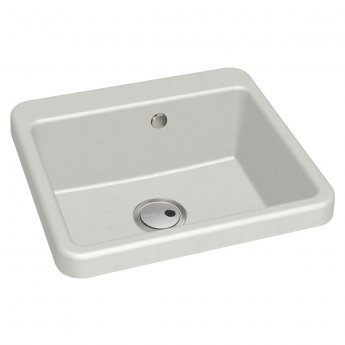 Abode Matrix GR10 1.0 Bowl Granite Inset Kitchen Sink 506mm L x 496mm W - White