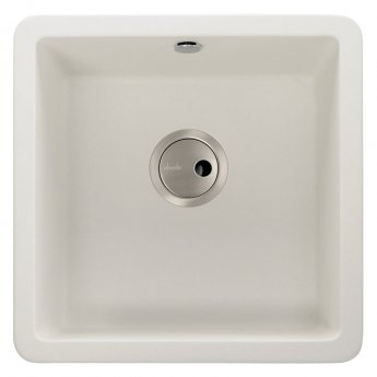 Abode Matrix SQ GR15 1.0 Bowl Granite Inset Kitchen Sink 460mm L x 460mm W - White